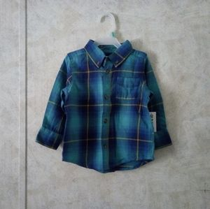 🔥18-24m NWT Old Navy plaid button down